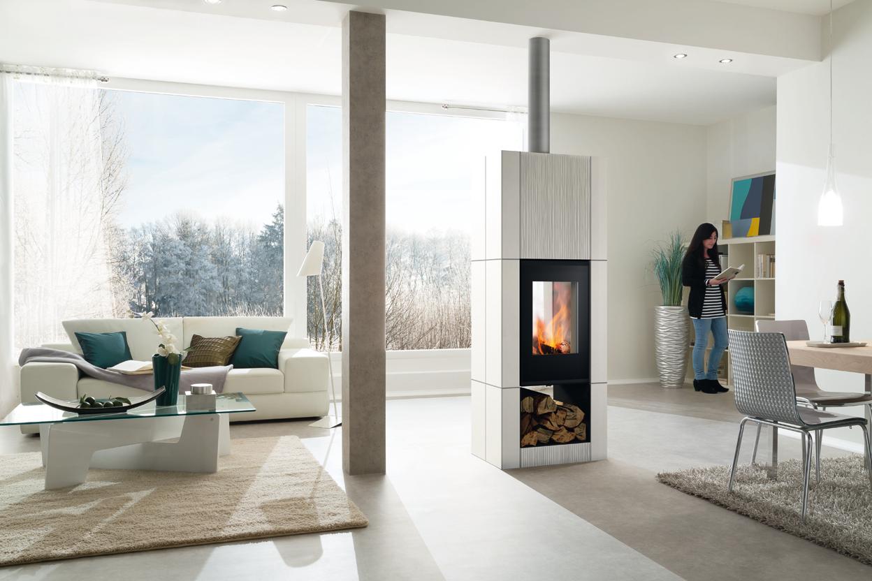 Moderne Verbindung aus Feuer und Architektur